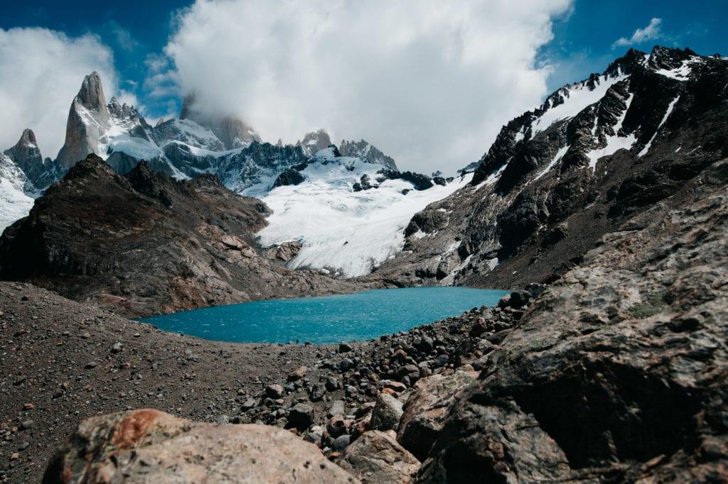 Mountain Top Laguna de los Tres in Argentina