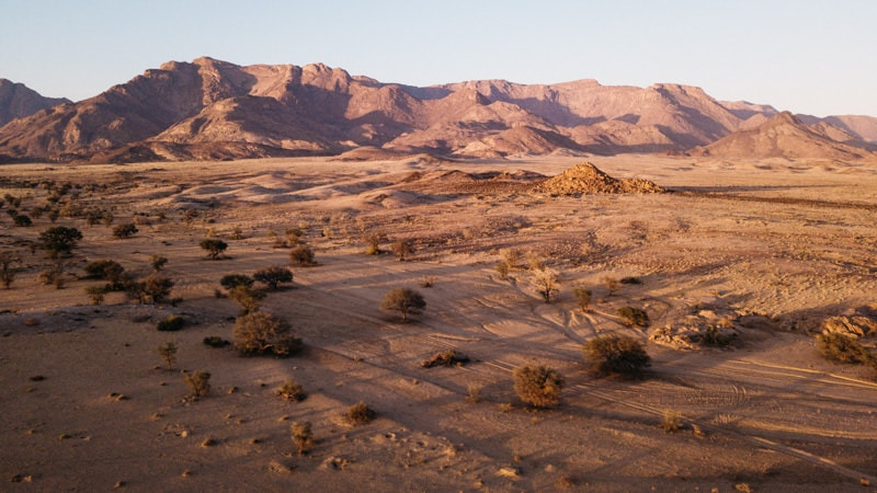 Brandberg Namibia at Sunrise