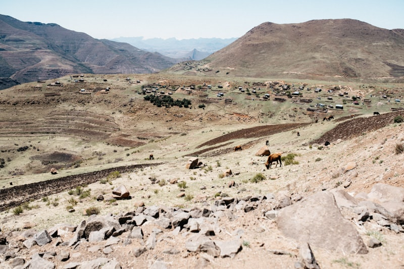 A typical Village in Lesotho