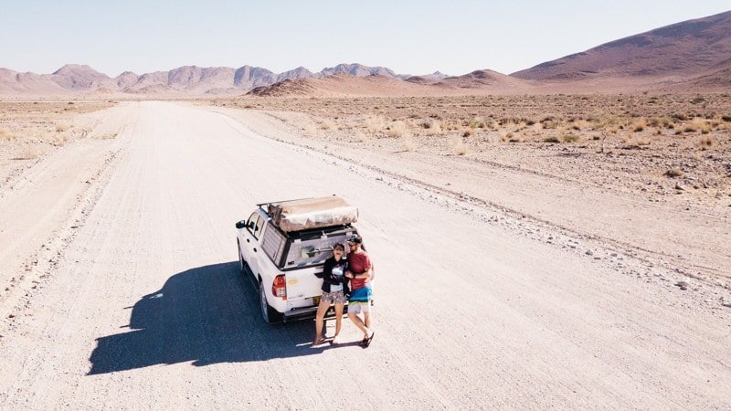 Namib Naukluft Park Drone Shot