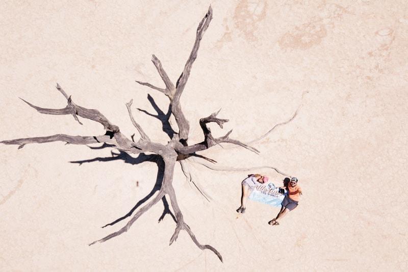 Dead Vlei in Namibia Drone Shot