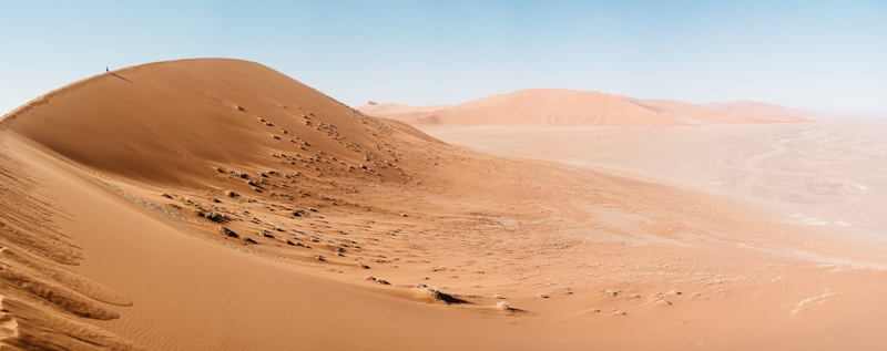 The top of Dune 45 Sesriem in Namibia