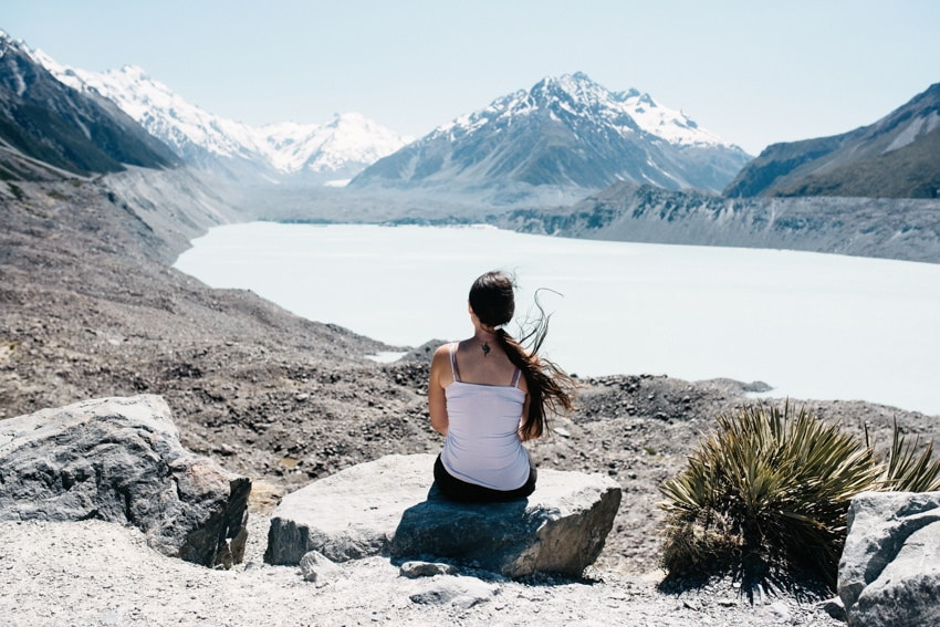 Blue Lake at Mount Cook Aoraki