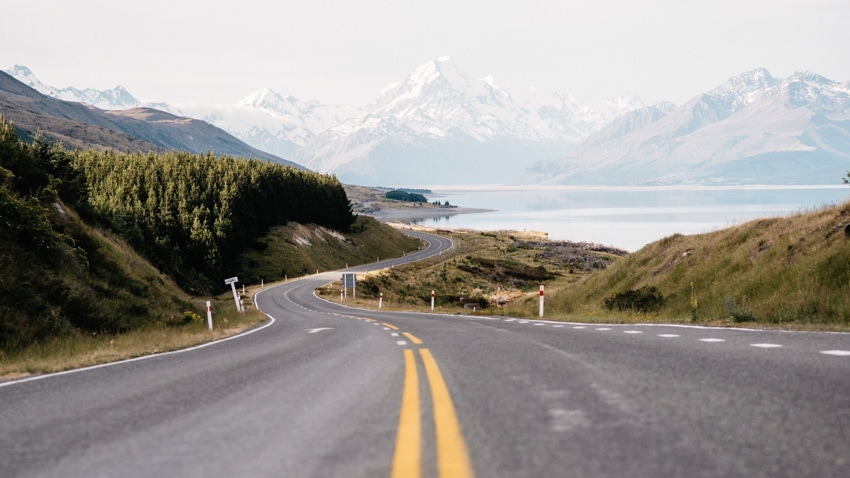 Driving to Mount Cook Aoraki
