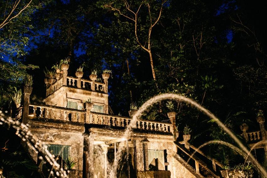 Paronella Park Castle at night