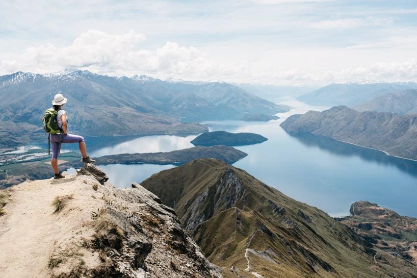 View from Roy's Peak over Lake Wanaka