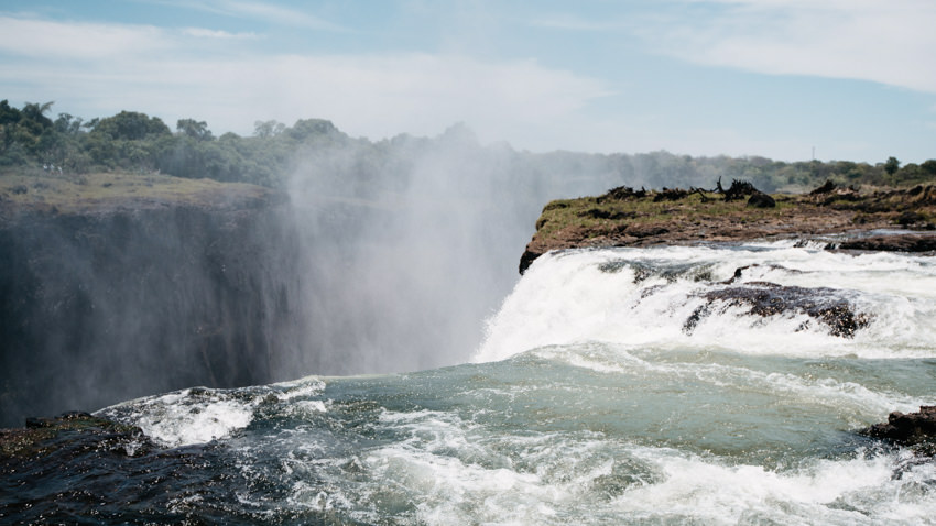 The Devil's Pool Victoria Falls in Zambia