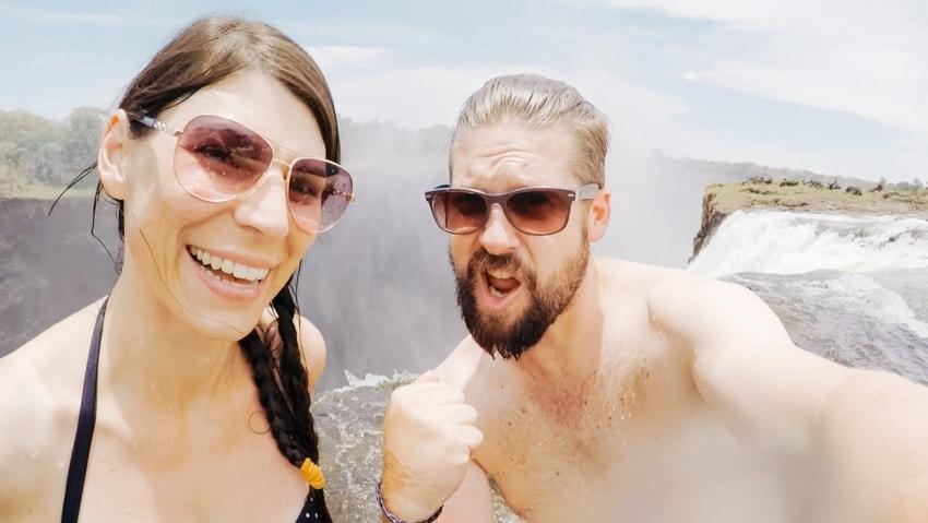 The Devil's Pool Victoria Falls in Zambia