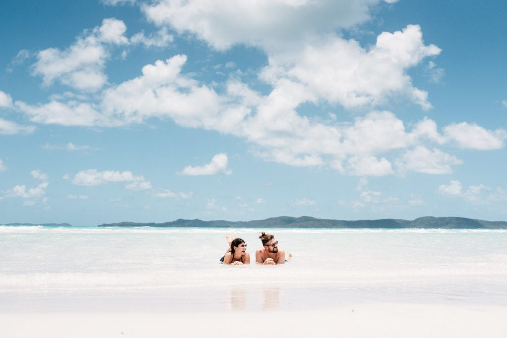 Whitehaven Beach Couple in sea