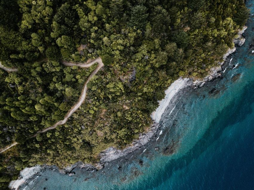 Lake Wakatipu Droneshot