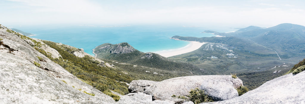 Wilson Promontory Lookout overview over peninsula