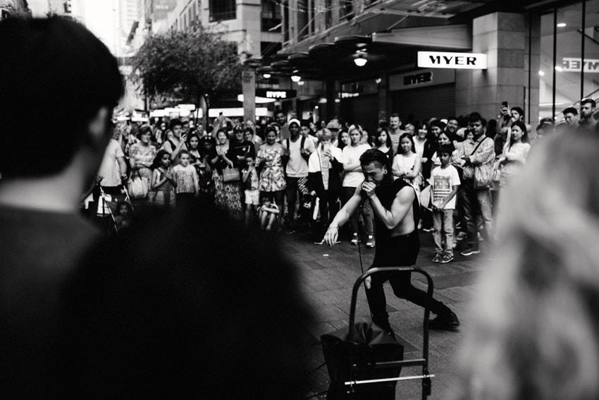 Street Artist Westfield Mall Sydney Beat Boxing