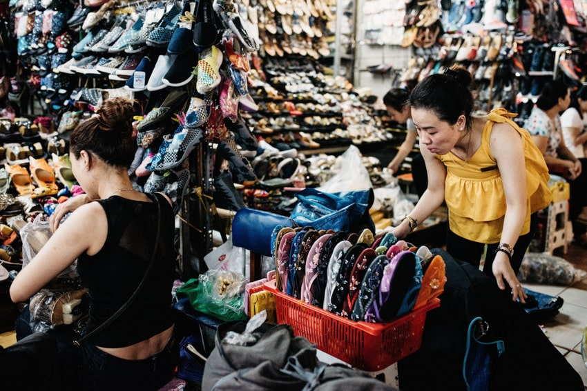 Ben Thanh Market Shoe Stand Ho Chi Minh City