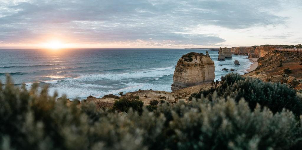 The Twelve Apostles at sunset