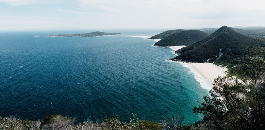 View from Mount Tomaree