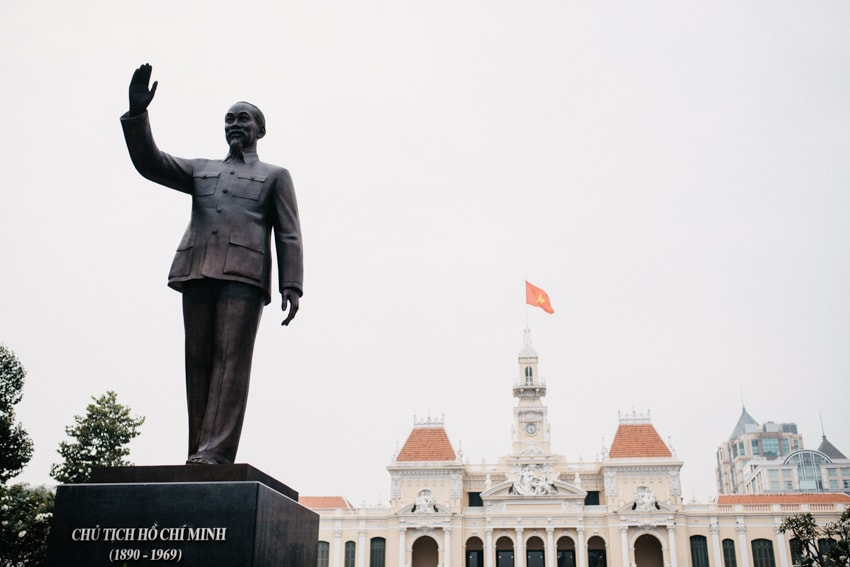 People's Committee Building Ho Chi Minh City Statue