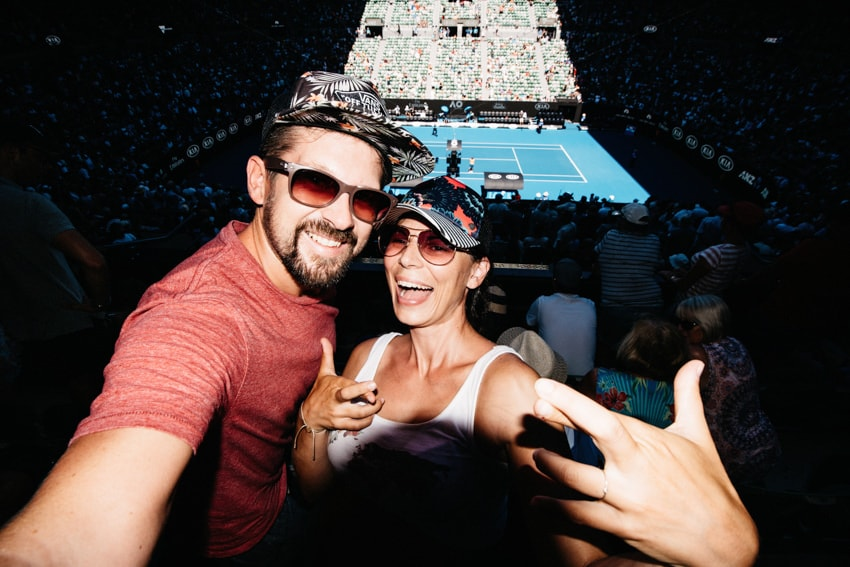 Australian Open Rod Laver Arena Portrait Tom and Bianca