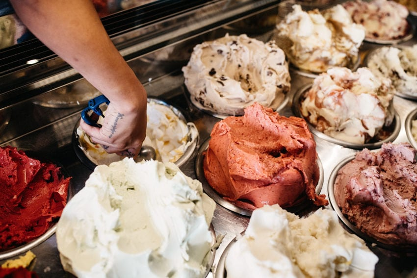 Melbourne Gelato Messina Scooping Ice Cream