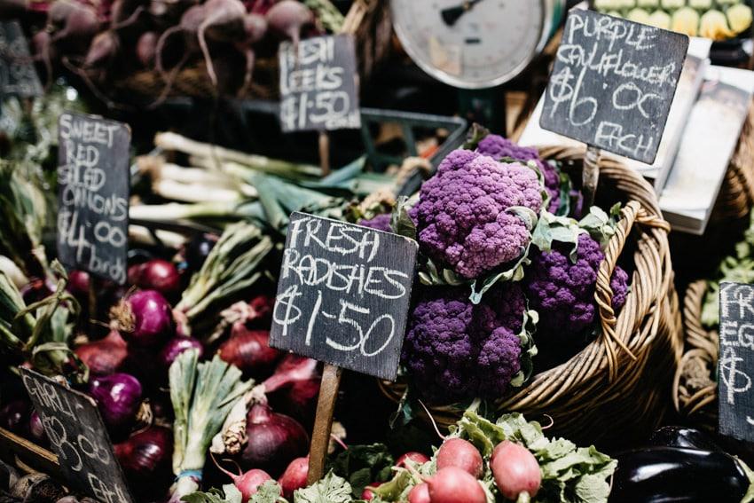 Queen Victoria Market Vegetable Close-Up