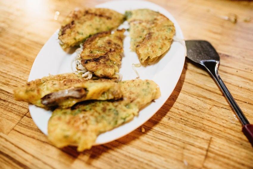 Cooking Class Rice Pancakes Recipe