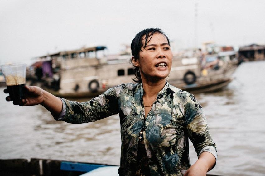 Mekong Delta Coffe Cai Rang Floating Market
