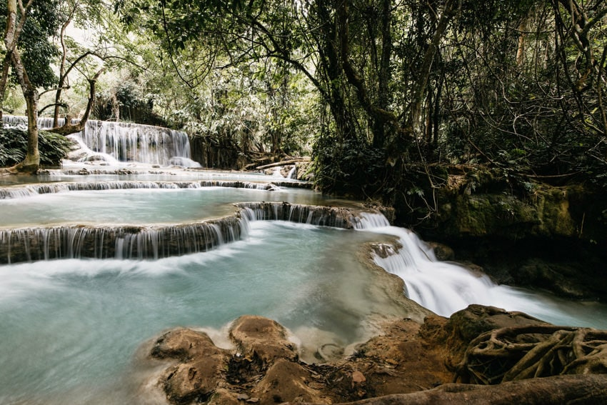 Laos Kuang Si Waterfalls 6