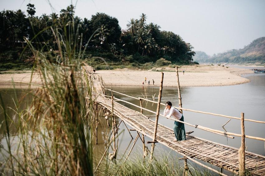 Luang Prabang Bamboo Bridge