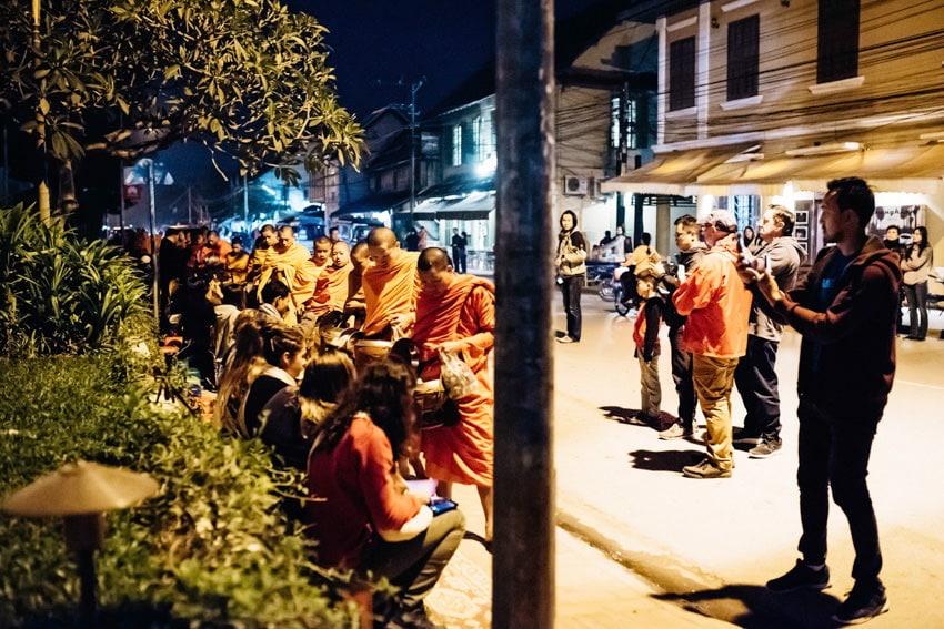 Luang Prabang Tak Bat Alms Giving Ceremony 1