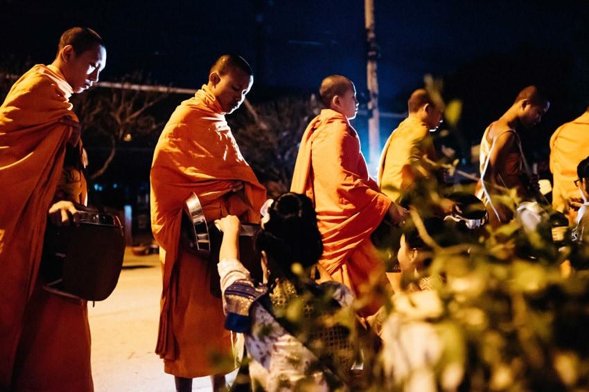 Luang Prabang Tak Bat Alms Giving Ceremony 2