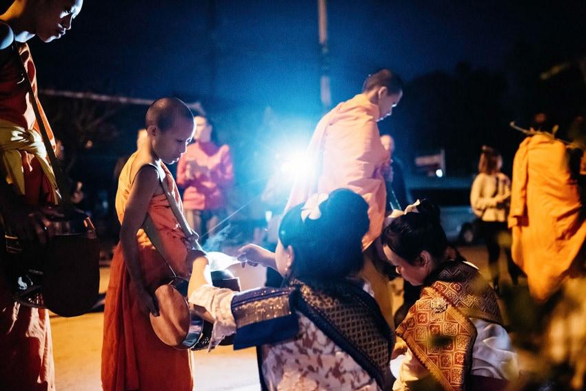 Luang Prabang Tak Bat Alms Giving Ceremony 3