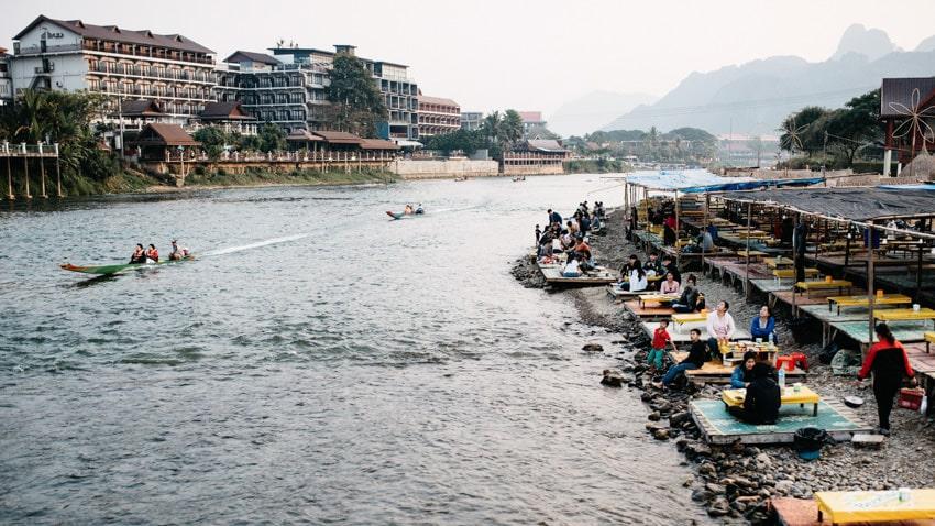 Vang Vieng Speedboats Nam Song River