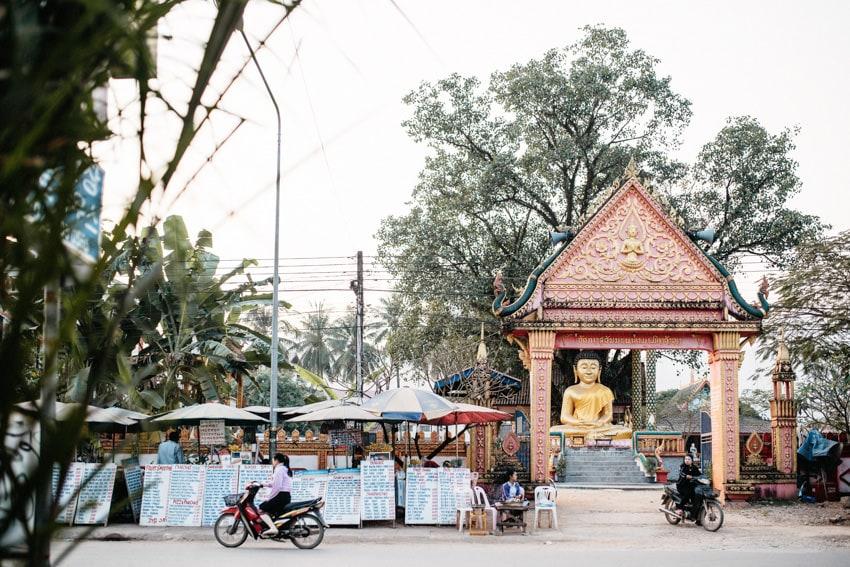 Vang Vieng Temple Food Court