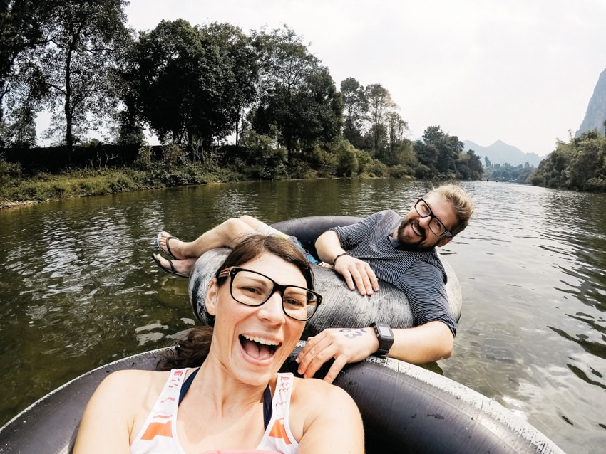 Vang Vieng Tubing Nam Song River