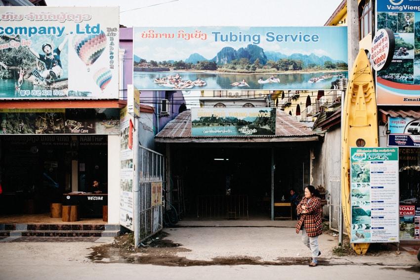 Vang Vieng Tubing Office Nam Song River