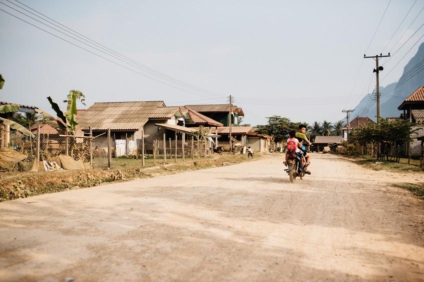 Vang Vieng Village Motorbike