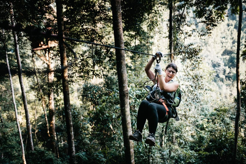 Gibbon Experience Waterfall Ziplining