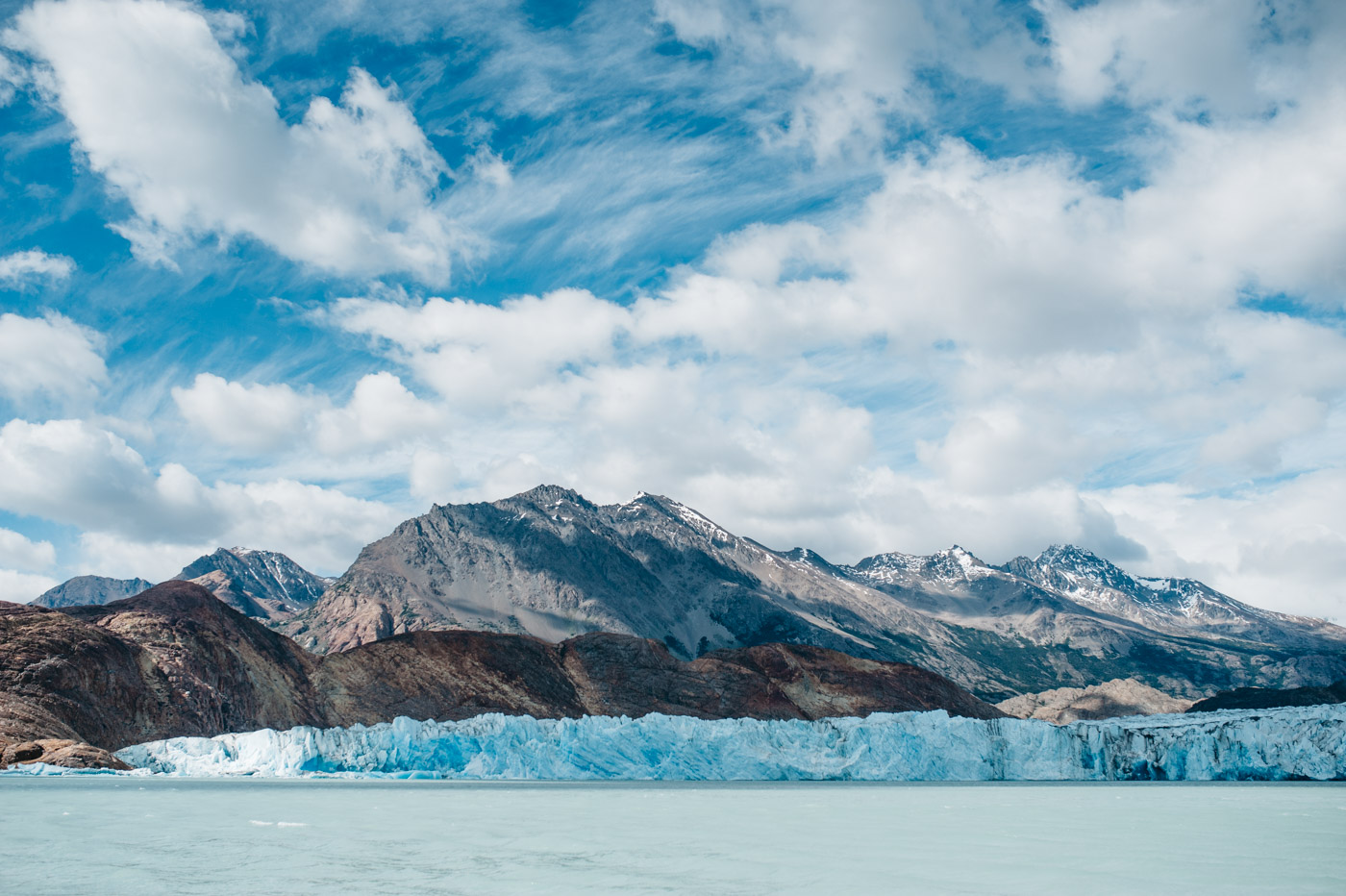 View on the Viedma Glacier from the boat