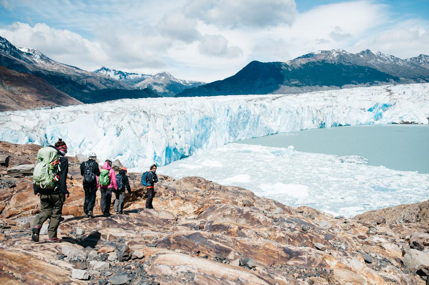 Trekking to Viedma Glacier