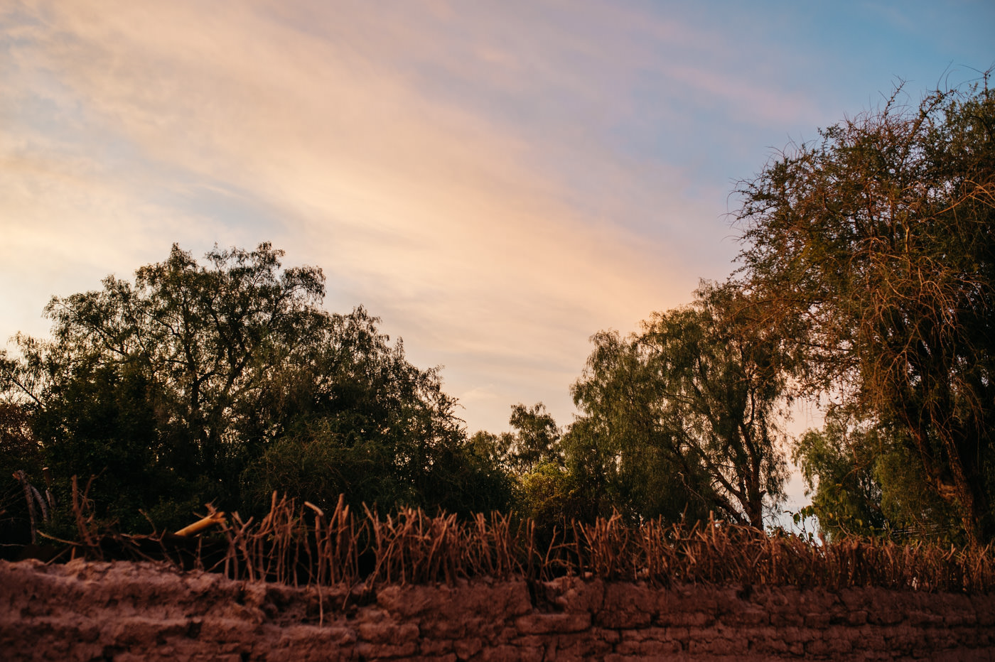 Chile San Pedro de Atacama Sunset over the town