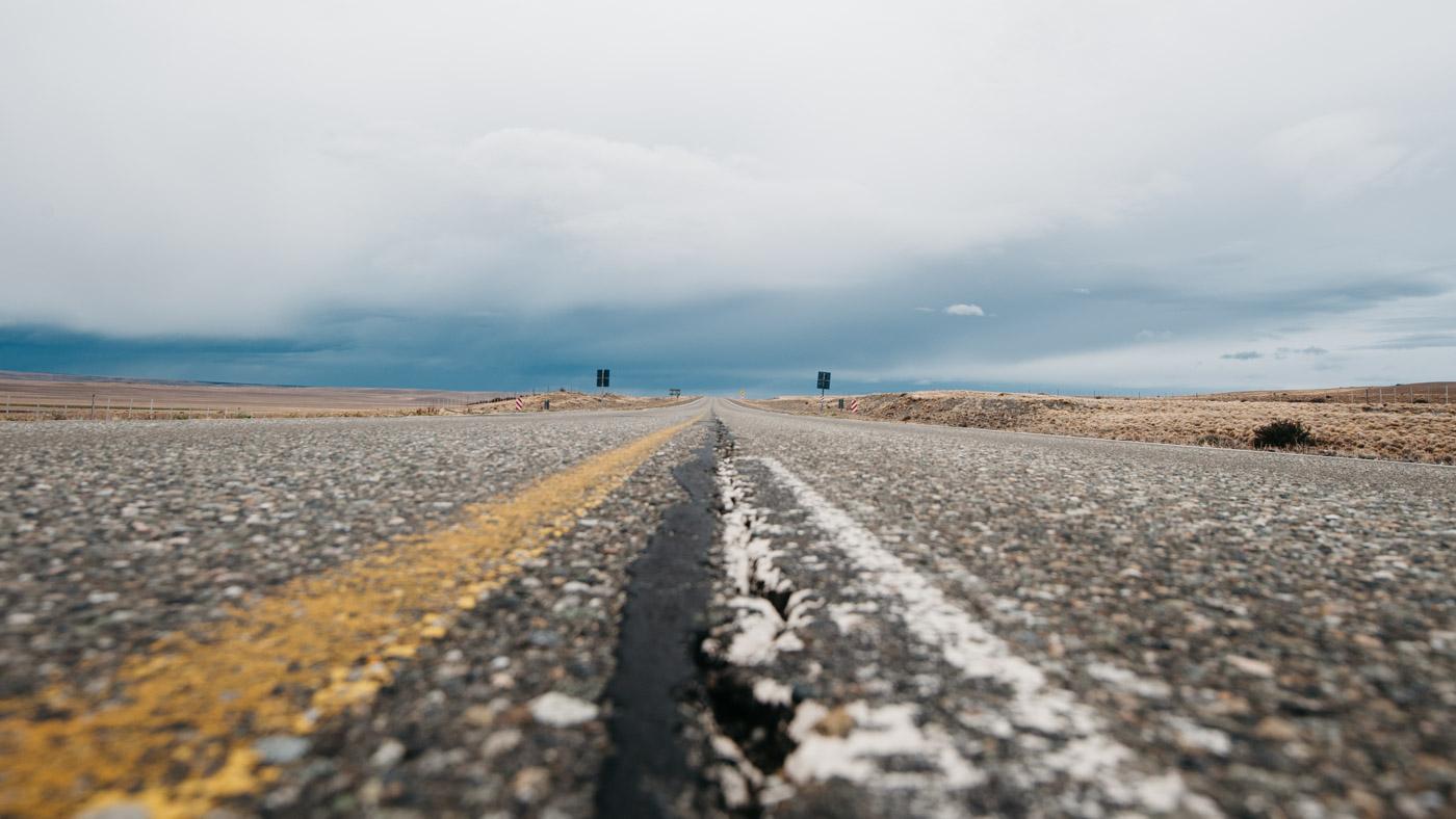 Impressions Driving Camping Patagonia Endless Road