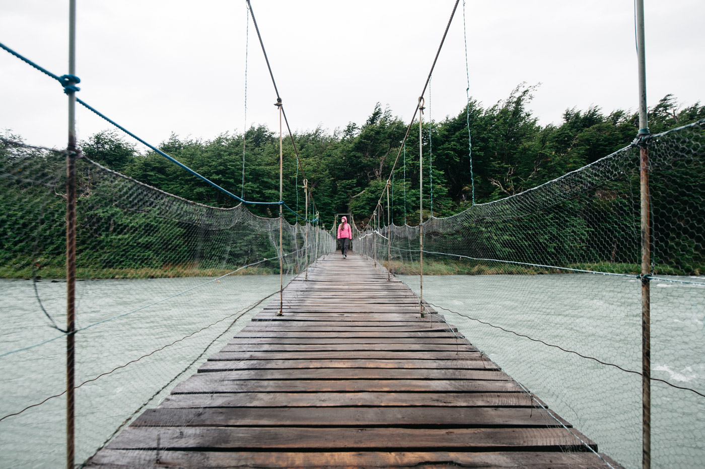 Hanging bridge in Torres del Paine