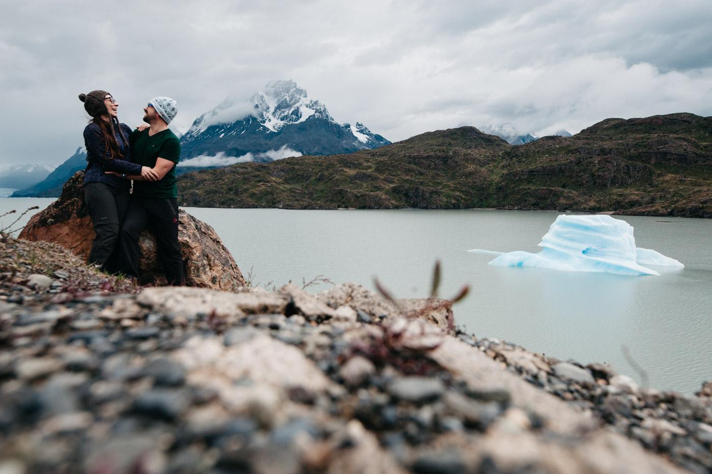 Iceberg in the Grey Lake