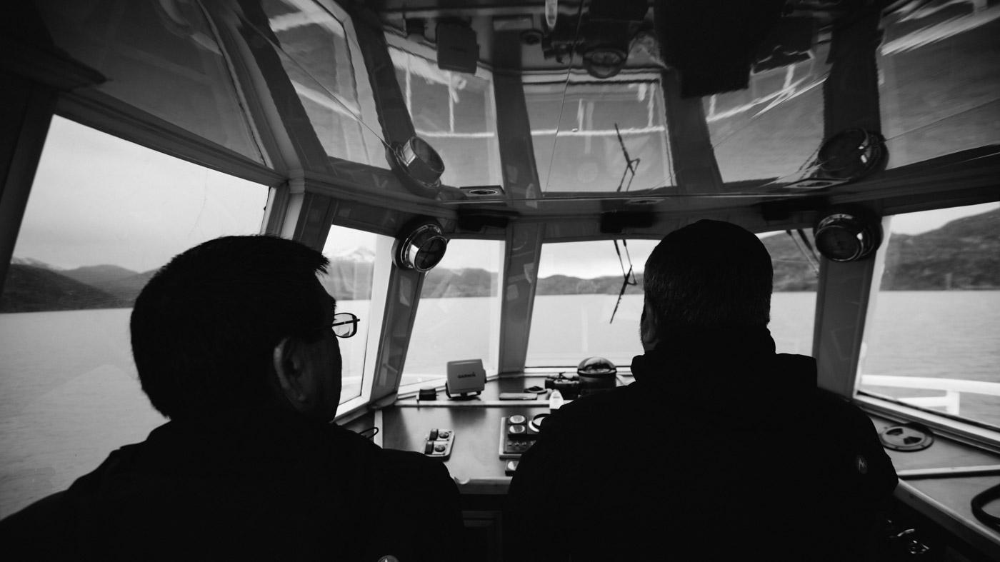 Catamaran Hielos Patagonicos Lago Pehoe captain