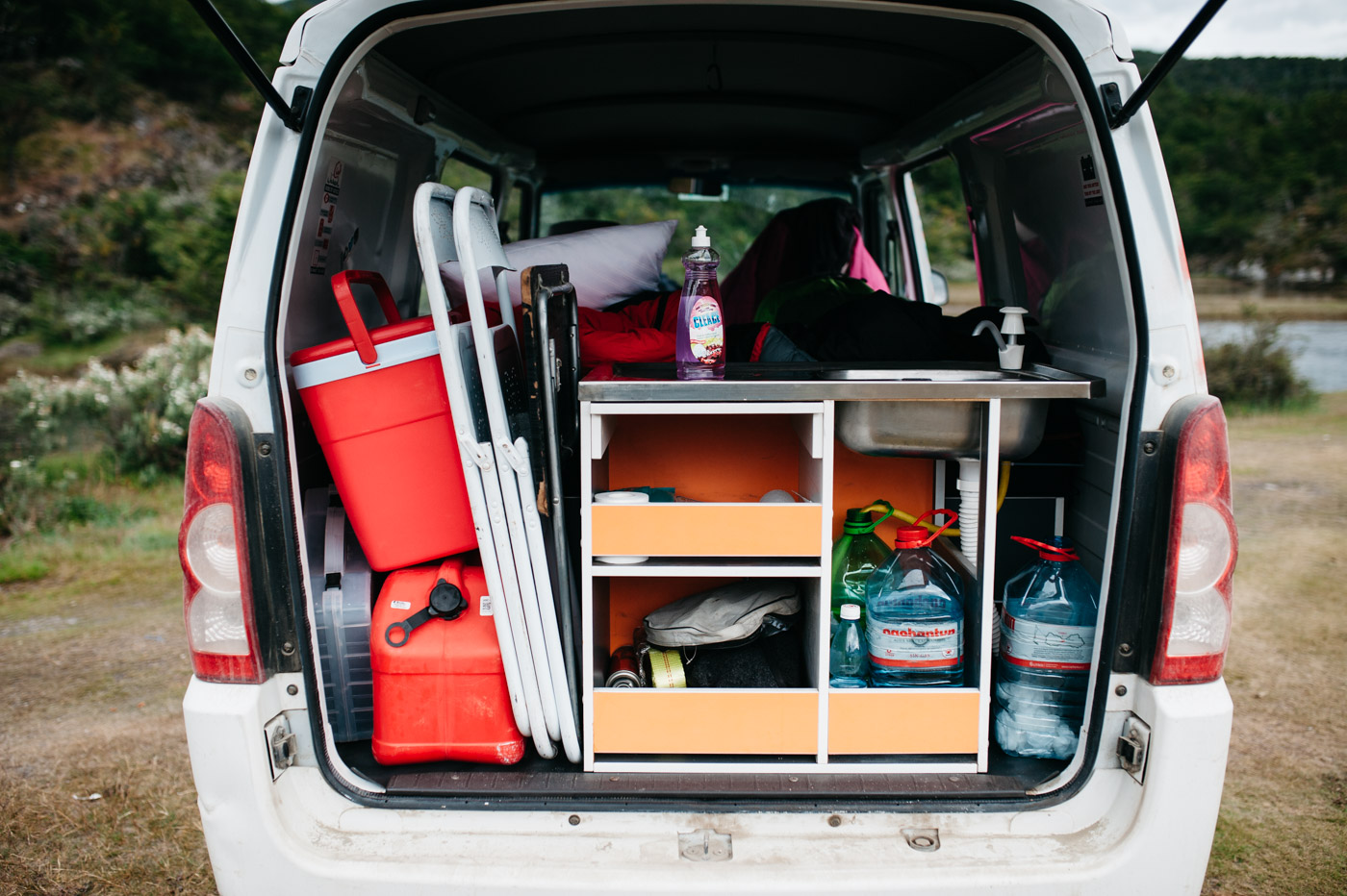 Wicked SouthAmerica Campervan Review Interiour-Kitchen and Storage
